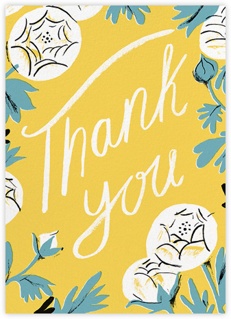 Thank You Peony (Nicholas John Frith) - Red Cap Cards - Graduation Thank You Cards