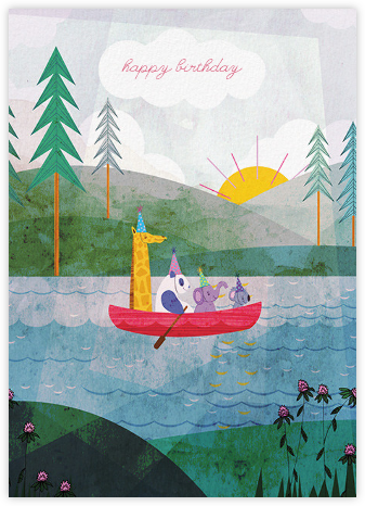Four Canoe (Josie Portillo) - Red Cap Cards - Birthday Cards