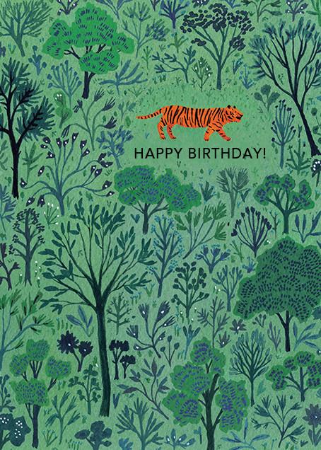 Orange Tiger (Becca Stadtlander) - Red Cap Cards - Birthday cards