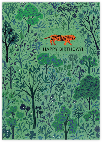 Orange Tiger (Becca Stadtlander) - Red Cap Cards - Birthday Cards for Him