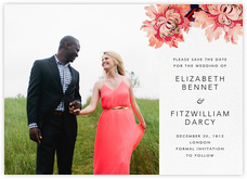 Rose Floral Ikat (Photo Save the Date)
