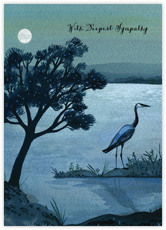 Blue Heron (Becca Stadtlander) - Red Cap Cards - Online greeting cards