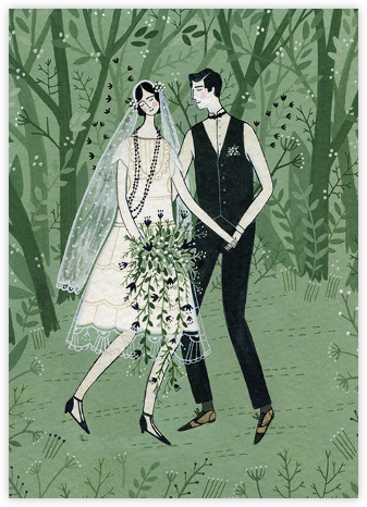 Man and Wife (Yelena Bryksenkova) - Red Cap Cards - Wedding congratulations