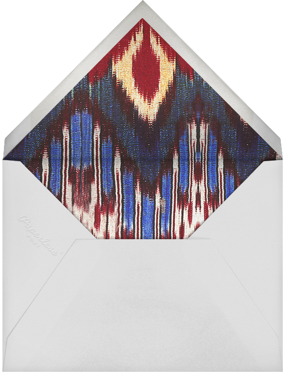 Rose Floral Ikat (Stationery) - Navy - Oscar de la Renta - Wedding stationery - envelope back