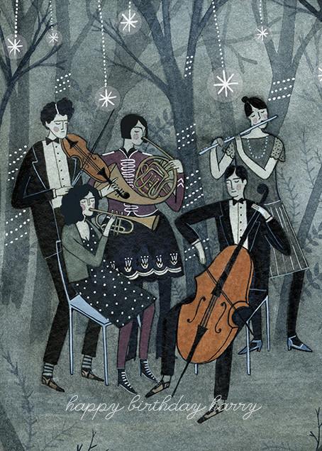 Music (Yelena Bryksenkova) - Red Cap Cards - Online greeting cards