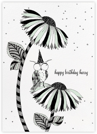 Owl Birthday (Carrie Gifford) - Red Cap Cards - Birthday Cards for Him