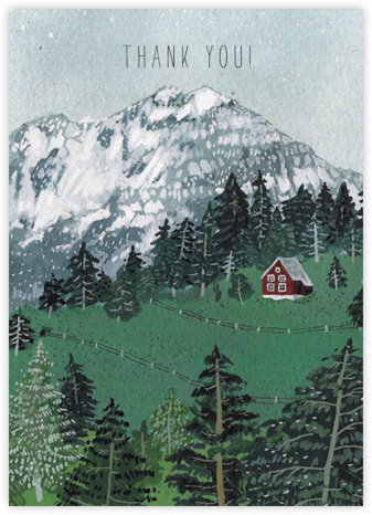 Red Cabin (Becca Stadtlander) - Red Cap Cards - Online Thank You Cards