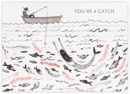 You're a Catch (Sarah Burwash) - Red Cap Cards - Valentine's Day Cards
