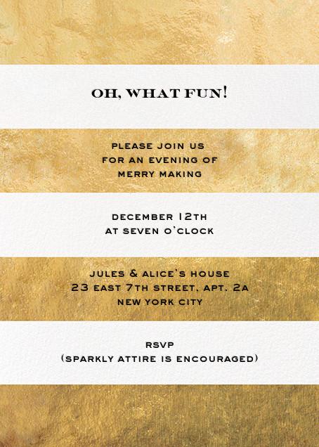 Evergreen Stripes - Gold/White - kate spade new york - Adult birthday invitations