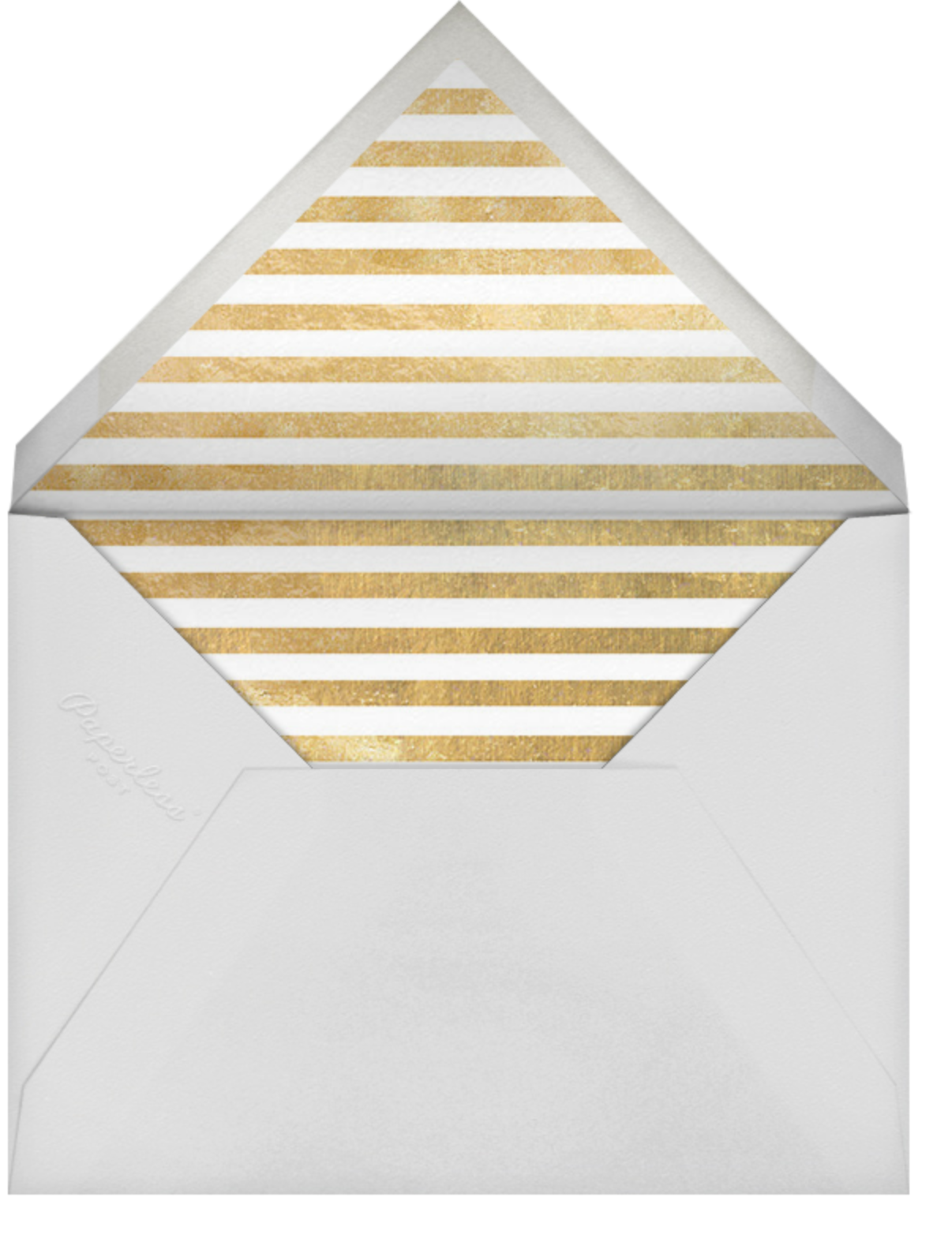 Evergreen Stripes - Gold/White - kate spade new york - Christmas party - envelope back