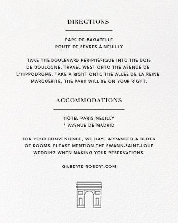 Paris Skyline View (Invitation) - White/Black - Paperless Post - All - insert front