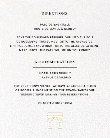 Paris Skyline View (Invitation) - White/Gold - Paperless Post - All - insert front