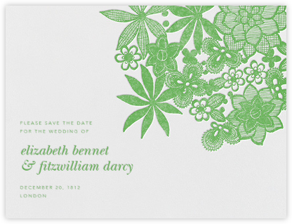 Floral Guipure (Save The Date) - Spring Green | null