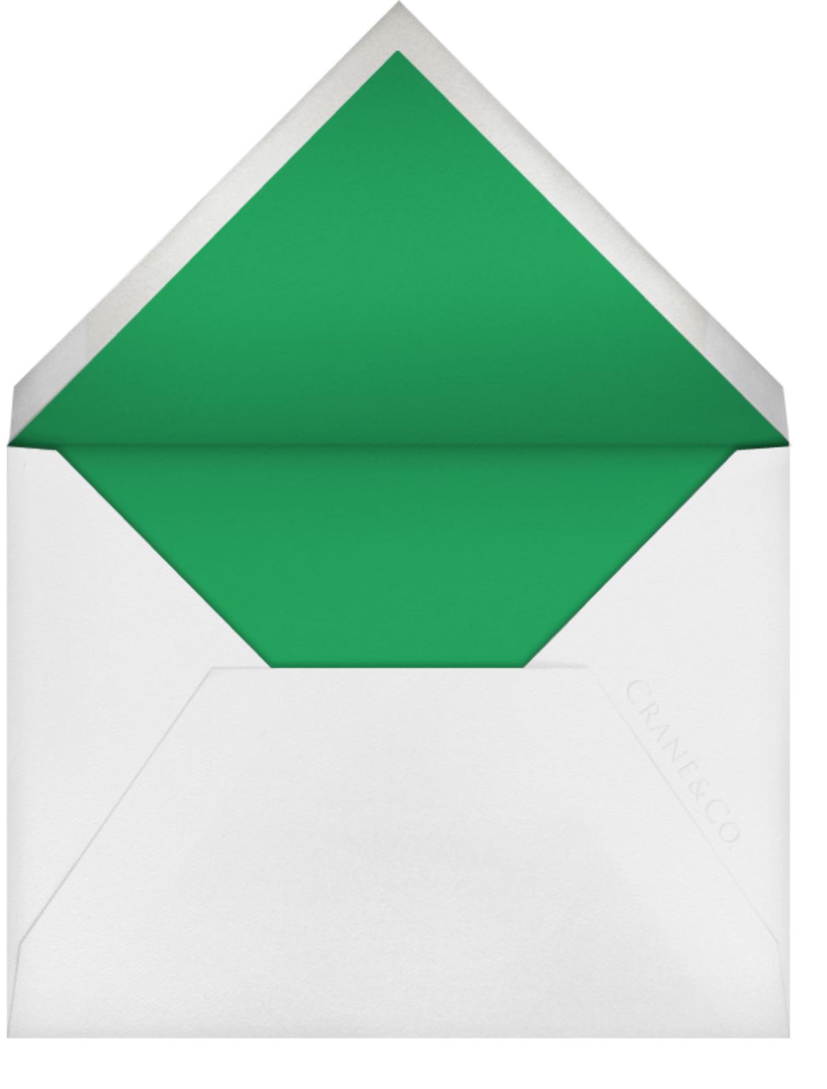 Floral Guipure (Stationery) - Spring Green - Oscar de la Renta - null - envelope back
