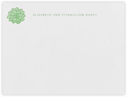 Floral Guipure (Stationery) - Spring Green | null