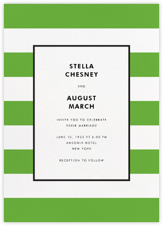Stripe Suite (Invitation) - Green - kate spade new york - Wedding Invitations