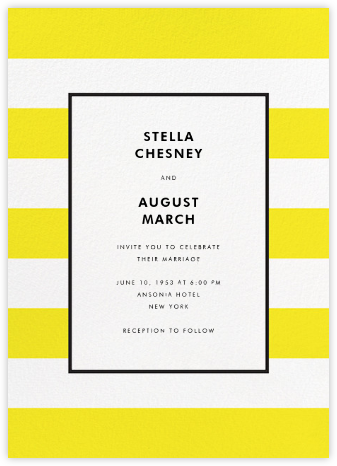 Stripe Suite (Invitation) - Yellow - kate spade new york - Modern wedding invitations