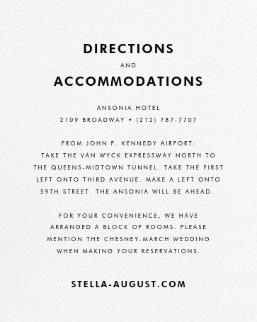 Stripe Suite (Invitation) - Yellow - kate spade new york - All - insert front