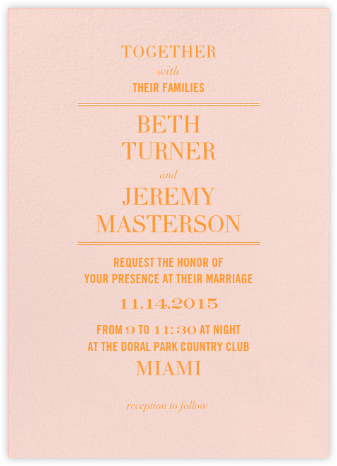 Typographic II (Invitation) - Meringue - kate spade new york - Wedding Invitations