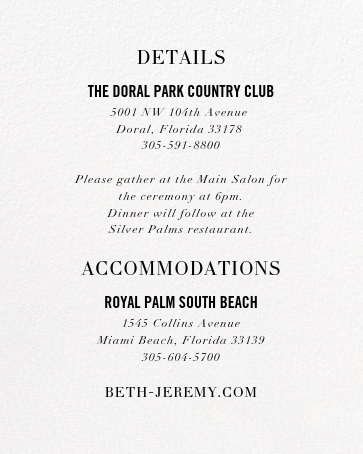 Typographic II (Invitation) - White - kate spade new york - All - insert front