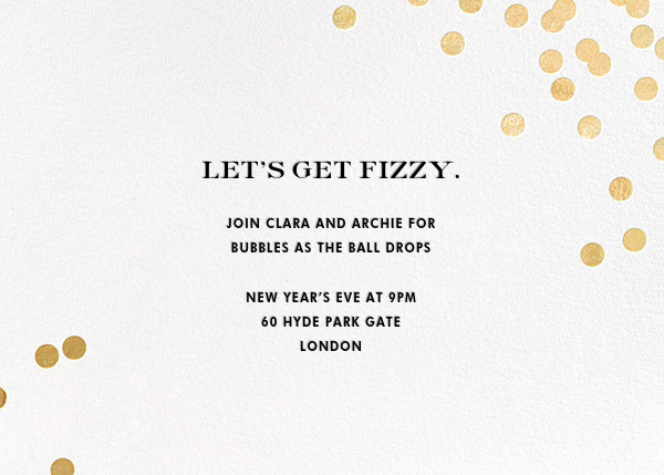 Confetti - White/Gold - kate spade new york - Kate Spade invitations, save the dates, and cards