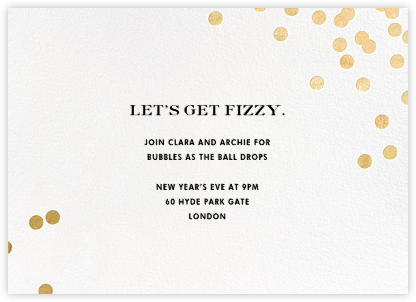 Confetti - White/Gold - kate spade new york - New Year's Eve Invitations