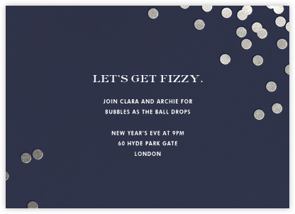 Confetti - Navy/Silver - kate spade new york - New Year's Eve Invitations
