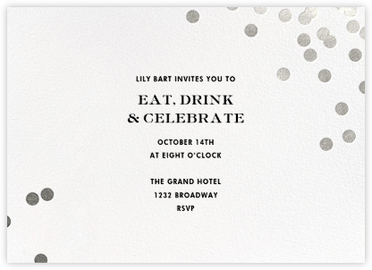 Confetti - White/Silver - kate spade new york - Company holiday party