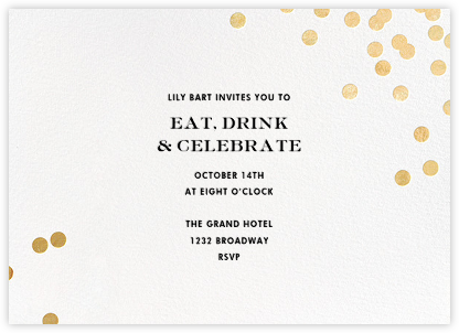 Confetti - White/Gold - kate spade new york - kate spade new york wedding