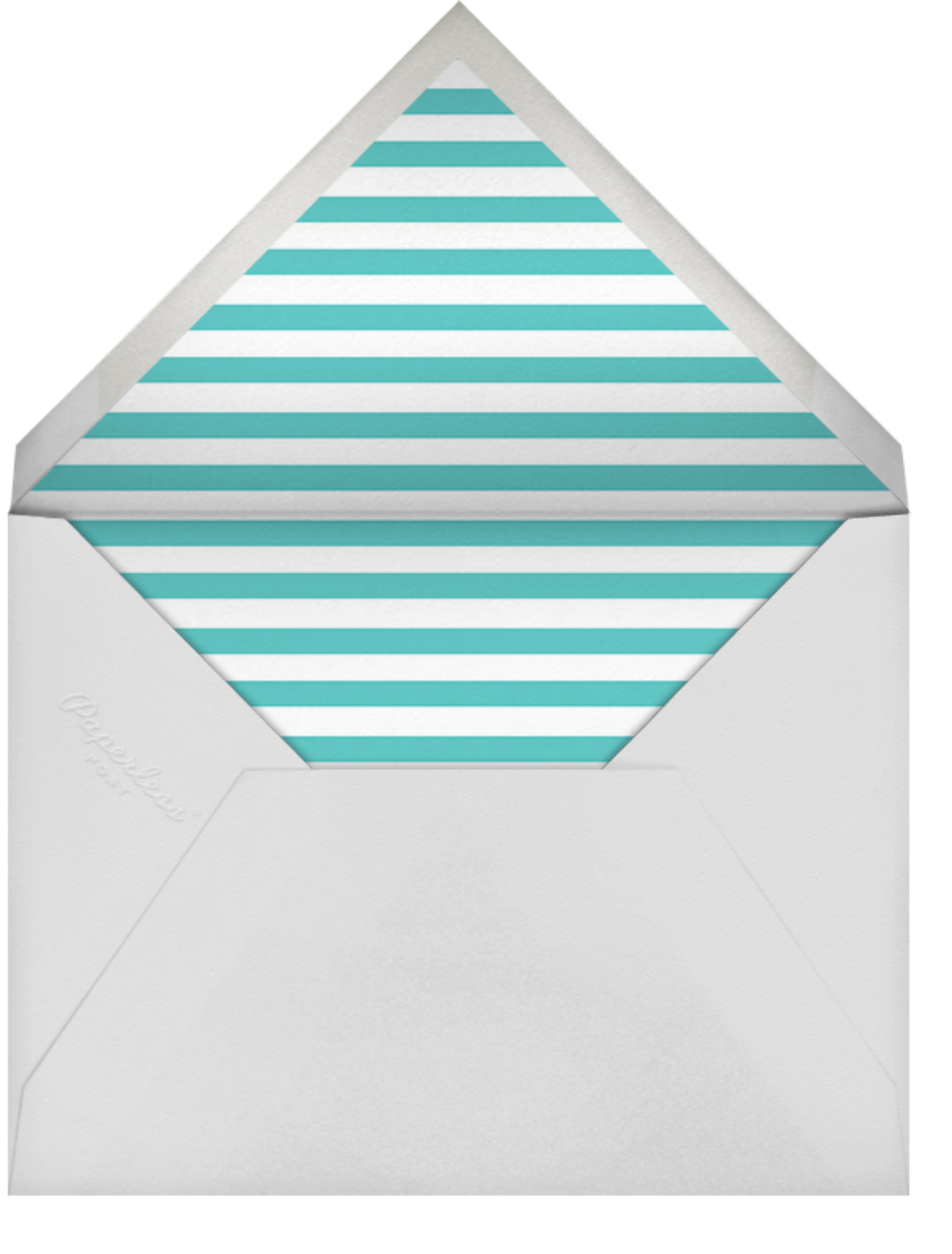 Confetti - Aqua/Gold - kate spade new york - Engagement party - envelope back