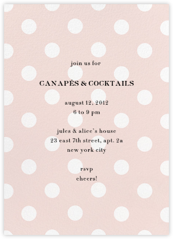 Evergreen Dots - Blush - kate spade new york - Kate Spade invitations, save the dates, and cards