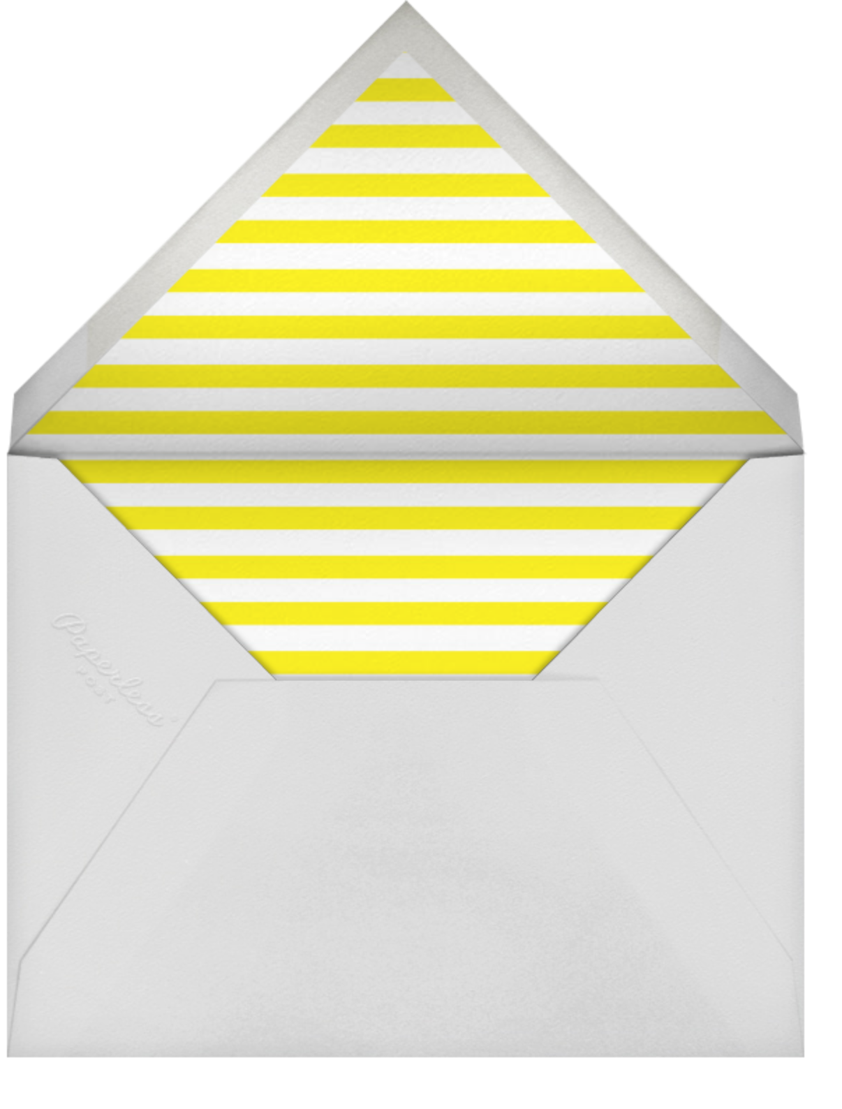 Evergreen Dots - Yellow - kate spade new york - Cocktail party - envelope back