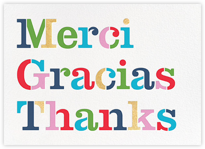 Merci - kate spade new york - Graduation Thank You Cards