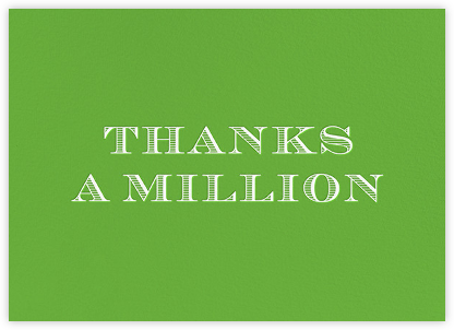 Thanks a Million | horizontal