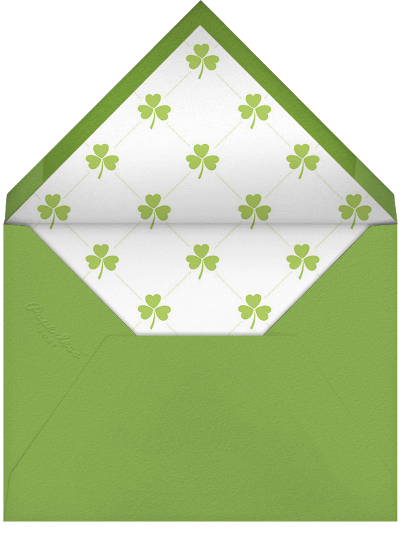 Shamrock with You - Paperless Post - St. Patrick's Day - envelope back