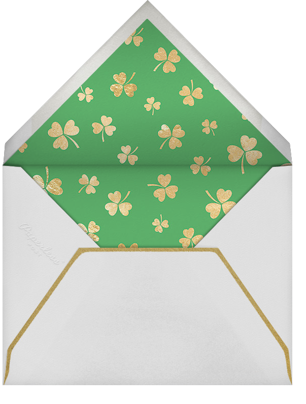 Pot of Gold - Paperless Post - St. Patrick's Day - envelope back