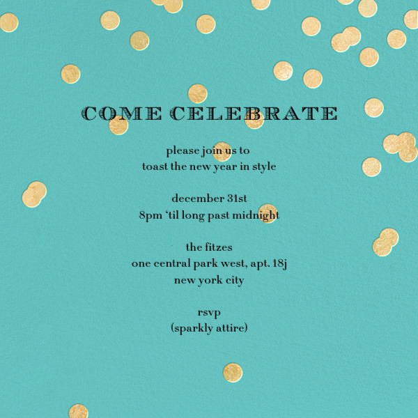 Come Celebrate - Aqua/Gold - kate spade new york - New Year's Eve