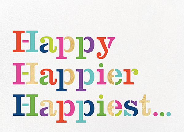 Happy Happier Happiest - kate spade new york - Birthday cards