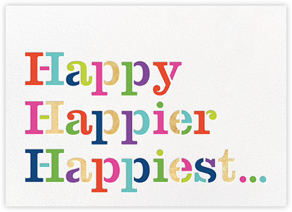 Happy Happier Happiest - kate spade new york - Kate Spade invitations, save the dates, and cards