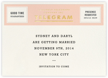 This Just In - Gold - kate spade new york - Save the dates