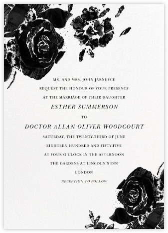 Painterly Blooms (Invitation) - Oscar de la Renta - Wedding Invitations