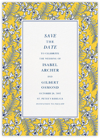 Tropical Jasmine - Mustard - Oscar de la Renta - Save the dates