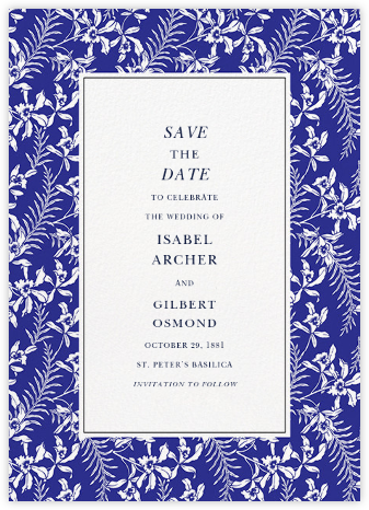 Tropical Jasmine - Indigo - Oscar de la Renta - Save the dates