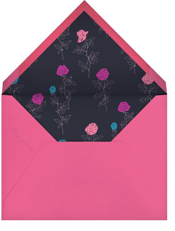 Evening Rose - Oscar de la Renta - Anniversary party - envelope back