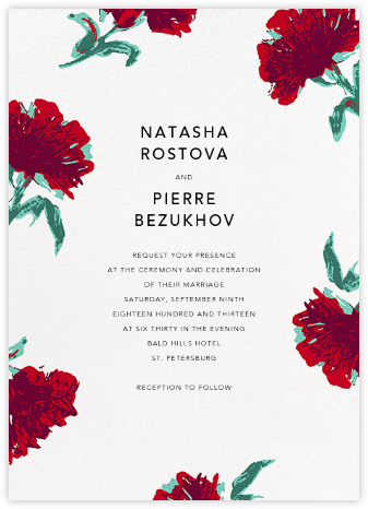 Pop Carnation (Invitation) - Oscar de la Renta - Online Wedding Invitations