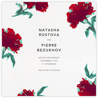 Pop Carnation (Save the Date) - Oscar de la Renta - Save the dates