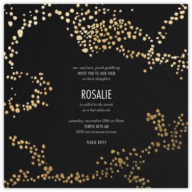 Evoke (Square) - Black/Gold - Kelly Wearstler - Religious invitations