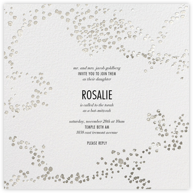 Evoke (Square) - White/Silver - Kelly Wearstler - Bat and Bar Mitzvah Invitations