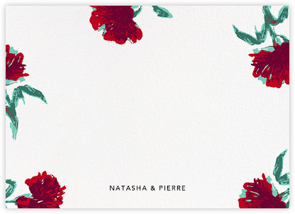 Pop Carnation (Stationery) - Oscar de la Renta - Personalized Stationery