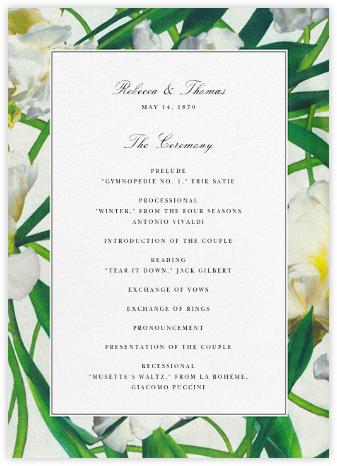 Parrot Tulip (Program) - Oscar de la Renta - Wedding menus and programs - available in paper